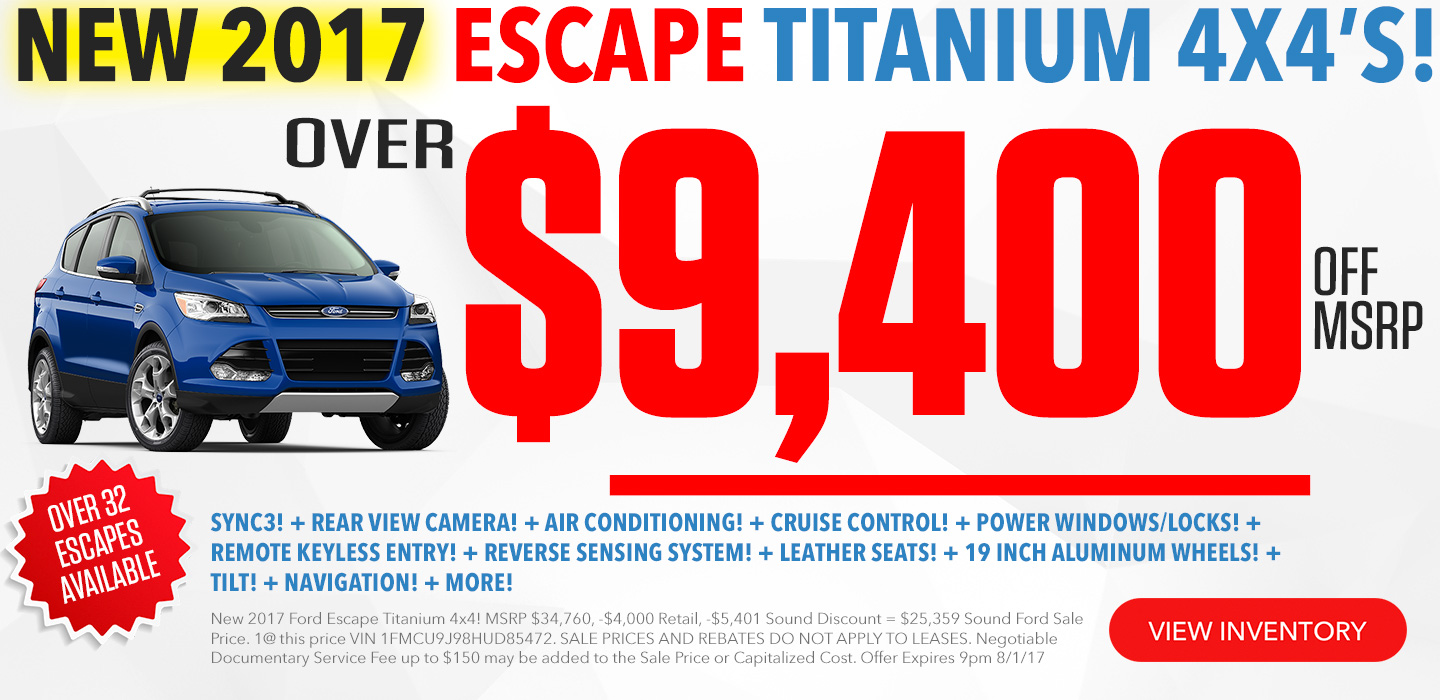 Ford Escape In Seattle Washington