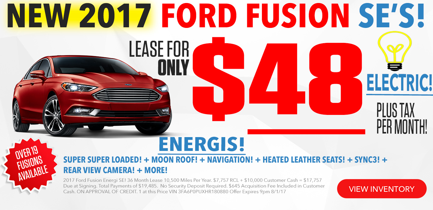 Ford Fusion For Lease in Seattle Washington