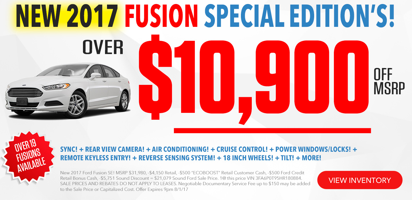 Ford Fusion For Sale in Seattle Washington
