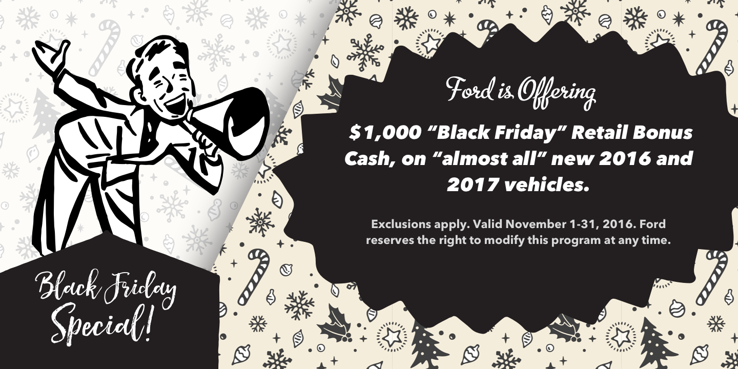 2016 ford black friday sale seattle washington
